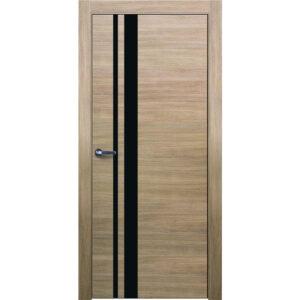 Межкомнатная дверь Аврора Twist T-11 (Беленый дуб, остеклённая)