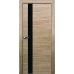 Межкомнатная дверь Аврора Twist T-12 (Беленый дуб, остеклённая)