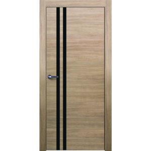 Межкомнатная дверь Аврора Twist T-13 (Беленый дуб, остеклённая)