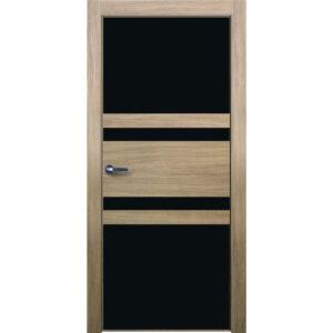 Межкомнатная дверь Аврора Twist T-2 (Беленый дуб, остеклённая)