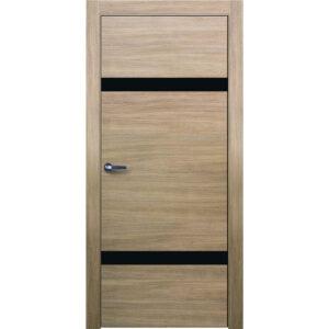 Межкомнатная дверь Аврора Twist T-6 (Беленый дуб, остеклённая)