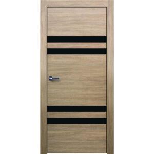 Межкомнатная дверь Аврора Twist T-7 (Беленый дуб, остеклённая)