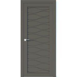 Межкомнатная дверь Аврора Vector V1 (Грей, глухая)