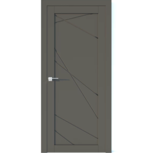 Межкомнатная дверь Аврора Vector V10 (Грей, глухая)