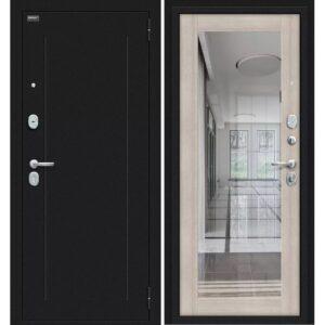 Входная дверь Bravo R Флэш (букле черное, cappuccino veralinga)